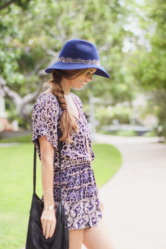 forever-21-romper-fringe-bag-blue-hat